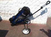 Vendo carro con bolsa de golf tour edge
