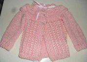 Sacos, chalecos, capitas y vstiditos de lana para bebe.