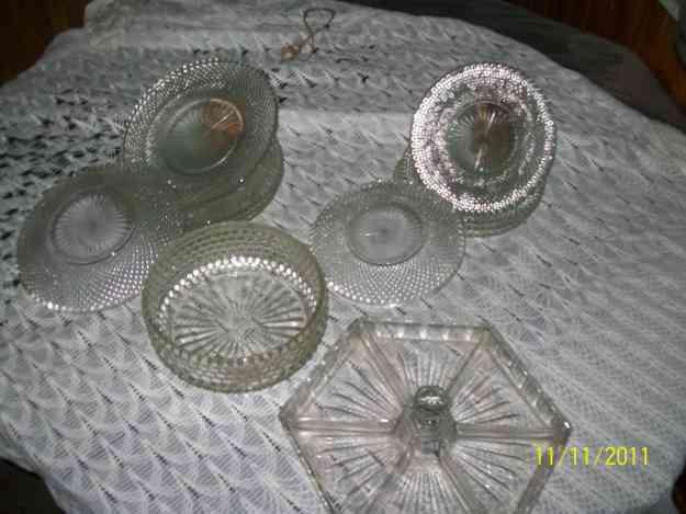 Vendo vajillas de cristal urgente bah a blanca doplim - Vajillas de cristal ...