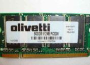 Vendo memoria notebook ddr 512 mb olivetti