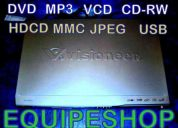 Reproductor dvd divx usb avi mp3 jpeg vga video juegos