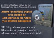 Album digital en dvd de san martín de los andes y su entorno paisajístico.