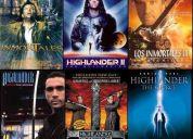 Highlander 1,2,3,4 y 5, en castellano, en dvd