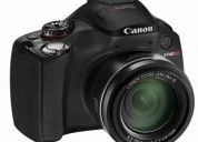 canon powershot sx40 hs + sd 8 gb. (clase 10) zoom optico 35x, video full hd