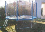 cama elastica, trampolin, saltarin 3.05mt con proteccion de red! saltocrazy!!!