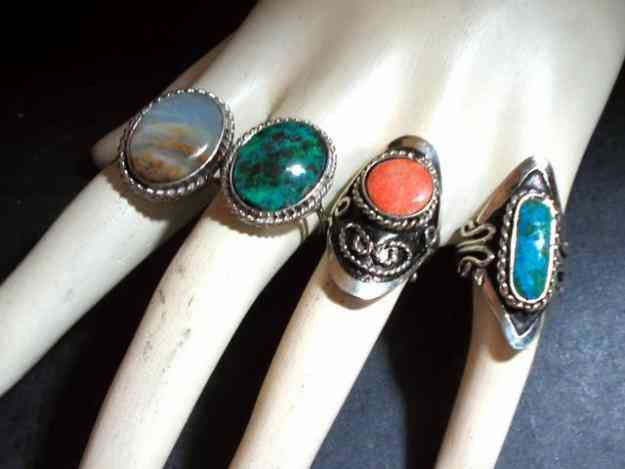 Mayorista de bijuterie artesanal anillos de alpaca y cristal murano santa fe capital doplim - Anillo cristal murano ...