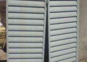 Juego de celocias de chapa reforzados sin uso. para ventana de 1,50 x 1,20.