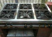 Cocina industrial acero inoxidable 6 hornallas astigas