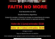Entradas faith no more