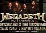 Megadeth 09/11 18hs. - preferencial (de pie)