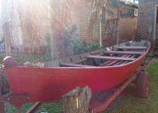Vendo canoa de madera timbo, 4,75 por 1,35