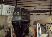 Evinrude 40 hp 1996 arranque electrico.