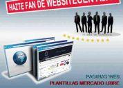 Diseño de páginas web - plantillas mercadolibre - facebook fun page -
