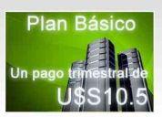Basic hosting 1 pago trimestral de solo 10,50   u$s