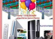 alquiler de nintendo wii ,playstation3,metegol, tejo.animacion,,luces,1536202684zona sur