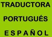 Traductora - traducciones portugués y español