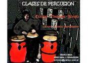 Clases de bateria y percusión.