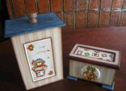 Pintura decorativa en azulejo y madera- seminario