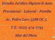 Mar del plata estudio jurÍdico dignani y asoc. despidos, indemnizaciones, trabajo en negro