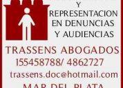 Abogados   mar del plata  acompaÑamiento en audiencias denuncias  dra. trassens   4862727-155458788