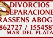 divorcios mar del plata abogados dra. trassens 4862727 / 155458788