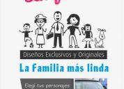 Calcos, stikers, la familia, para tu familia