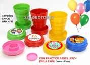 Vasos plegables souvenir vasitos telescopicos personalizados infantiles