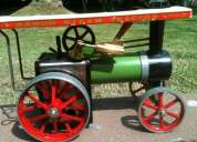 Vendo juguetes antiguos tractor a vapor y dos calderitas