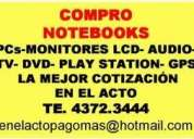 Te:4372-3444-compro pcs,monitores lcd net y notebooks -lavalle 1772 local 16 ,monitores lc