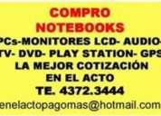 Te:4372-3444-compro net y notebooks funcionen o no , pcs,monitores lcd, televisores, audio