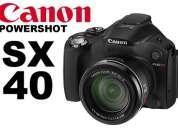 Canon sx40 hs + memo 8gb modelo 2012 semi reflex en stock