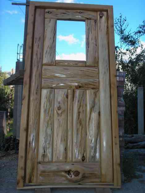 Puerta de madera cipres rustica trelew doplim 48939 for Puerta madera rustica
