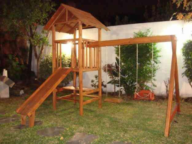 Juegos madera exterior imagui for Juegos de jardin rusticos