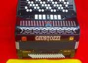 acordeon italiano giustozzi hecho a mano 5 hileras 7/2 reg. 80 bajos nuevo-nuevo spina