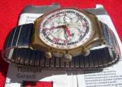 reloj swatch irony chrono coleccion pleasure dome scm106 scm107 en caja c/manual joya