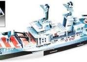 3d puzzle barco fragata hms norfolk f230 p/educación nuevo!