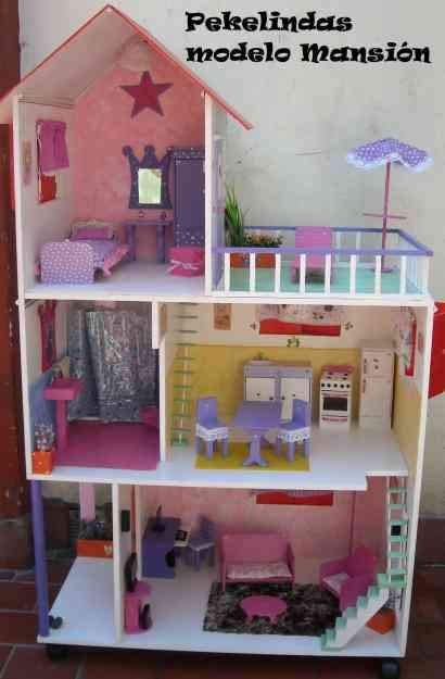 Casitas de mu ecas pekelindas modelo mnasi n para barbies for Casas infantiles de madera para jardin segunda mano