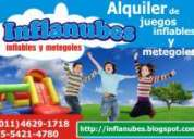 Castillo inflable metegol moron ituzaingo 4629-1718