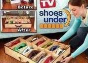 Shoes under organizador de zapatos 12 pares. envíos a todo el país.