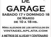 Venta de garage dias 17 y 18 de marzo