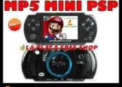 La plata free shop mp5 mini psp con camara con flash + filmadora + joystick + 200 juegos