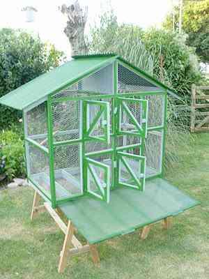 Jaula pajarera voladero jaulon aviario jaula para pajaros for Casas infantiles de madera para jardin segunda mano
