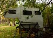 Vendo camper  4 personas con for ranger doble cabina 4x4