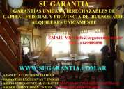 Garantias exclusivas para locales capital federal