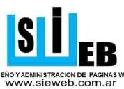 Sie web : diseño+administración+hosting  paginas web