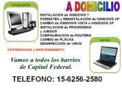 servicio tecnico de pc,computadoras,notebooks y netbooks a domicilio en san telmo
