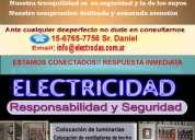 Electricista a domicilio matriculado, urgencias 15-6765-7756