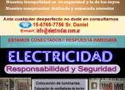 Electricista matriculado a domicilio, urgencias 15-6765-7756