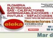 Plomero electricista gasista albañil impermeabilizaciones mar del plata