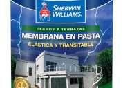 Sherwin williams. membrana en pasta. impermeabilizacion, elasticidad y resistencia
